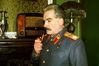 И.В.Сталин слушает последние известия по радио (о реформе в армии)